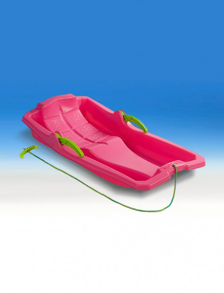 Plastic sledge with brakes